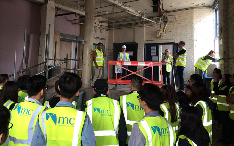 Hong Kong Institute of Vocational Education visit MC Construction