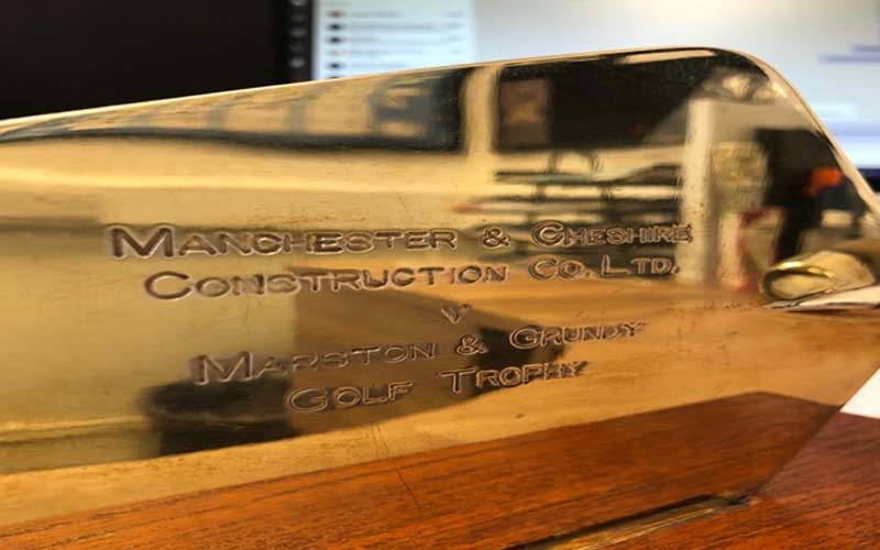 Trowel Trophy Stays Safe at MC HQ